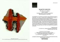 Martin Miguel, Galerie Depardieu, exposition