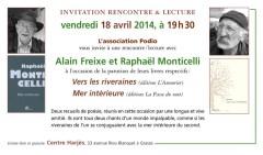Alain Freixe, Raphaël Monticelli, Vers les riveraines, Mer intérieure, Centre Harjès