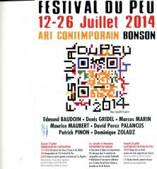 Denis Gridel, Festival du Peu, Bonson